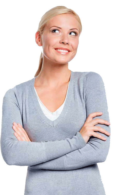 Woman Crossing Arms and Smiling