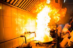 fire damage in kitchen which is protected under special event insurance