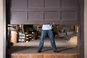 man who has garage liability insurance to reduce risk
