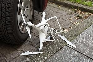 Drone with broken propeller