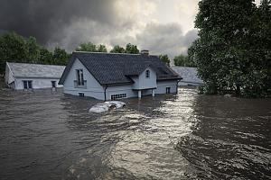 House affected by flood