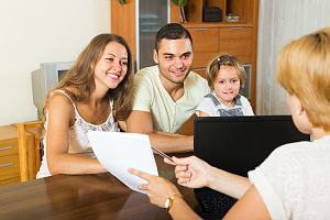 Personal insurance agent with family