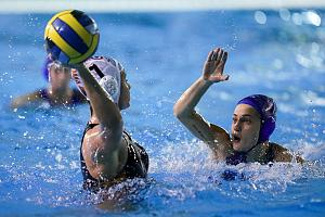 Water polo players in water