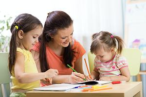Children at a home with a daycare insurance knowing the cost