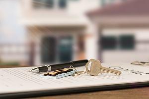Keys to rental location on paperwork