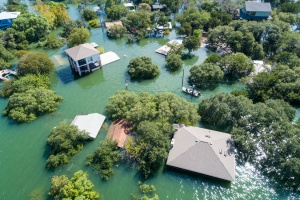 sky view of home covered with fema flood insurance