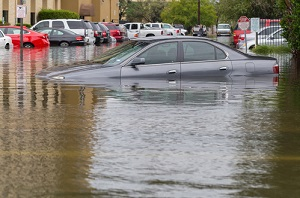 Car Drowned in Flood needing commercial flood insurance