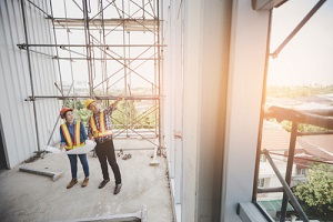 General Contractor Insurance Discussing Building Material