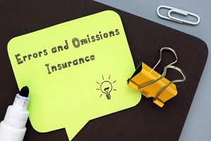 E&O Insurance Yellow Sticky Note