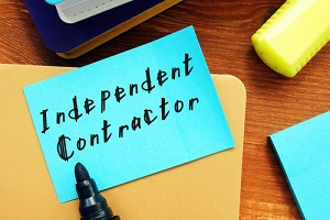 Independent Contractor Sticky Note