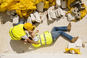 construction worker has an accident while working on new house with construction insurance