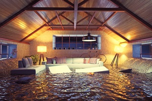 flooding modern interior loft in the evening should have commercial flood insurance