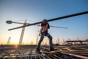 construction worker at construction site with Construction Insurance