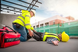 physical injury at work of construction worker needing Construction Insurance