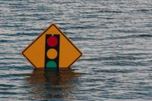 flood danger level sign board
