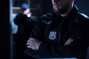 police officers on the intervention with Police Liability Insurance
